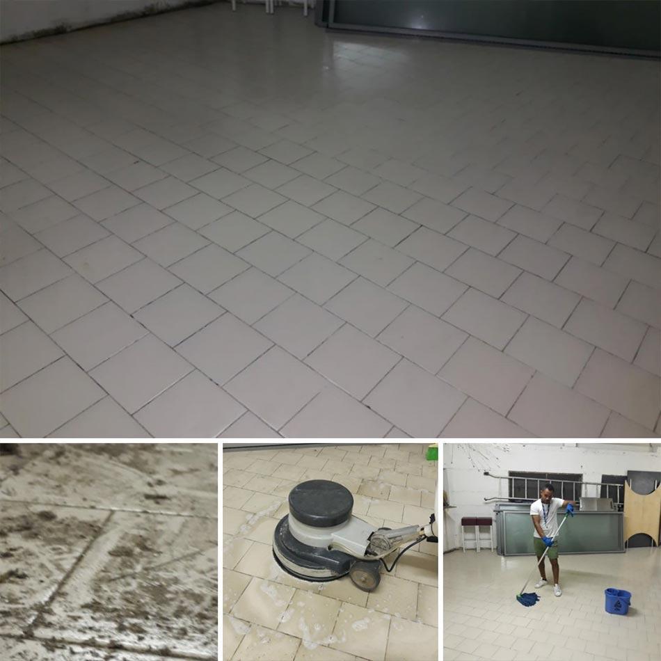 fine cantiere pulizie pavimenti