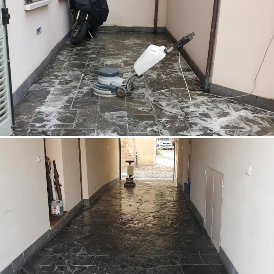 pulizia fine cantiere pavimenti