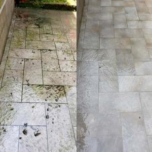 pulizia pavimento esterno pietra